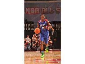 Jrue Holiday of Philadelphia 76ers during NBA All-Star Game 1