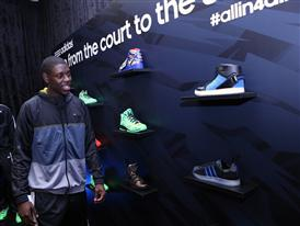 Jrue Holiday of Philadelphia 76ers at adidas VIP Suite 1 (2)