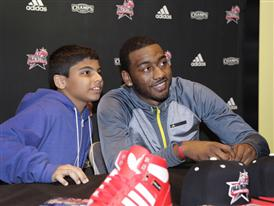 John Wall of Washinton Wizard at Finish Line during NBA All-Star