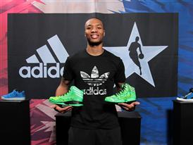 Damian Lillard of Portland Trail Blazers at adidas VIP Suite