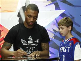 Damian Lillard of Portland Trail Blazers at adidas St