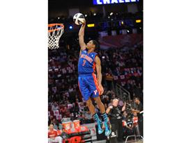 Brandon Knight of Detroit Pistons at Skills Challenge
