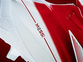 The Messi logo adorns the new adizero f50 Messi boots