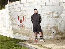 Leo Messi wearing the new adizero f50 Messi boot