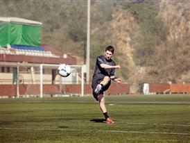Lionel Messi sul campo