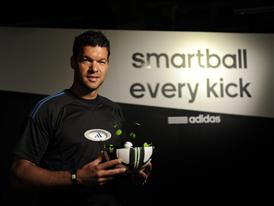 Michael Ballack holding the adidas Smart Ball (2)