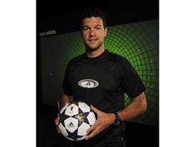 Michael Ballack holding the UEFA Champions League FInal Official Match Ball