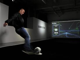 Zinedine Zidane on the Track at the adidas lab