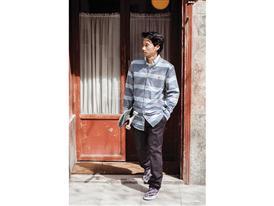 Gonz Striped Oxford Shirt and Gonz Stretch Chino Pant - Lem Villemin 2
