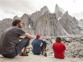 Christian Hechenberger, Guido Unterwurzacher, Hannes Leitner, Trango Range, Karakorum, Pakistan