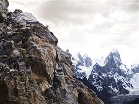 Approach to base camp, Karakorum, Pakistan