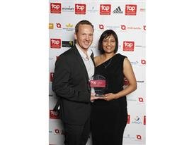 adidas_Top Employer 2014 Awards_Managing Director Roddy van Breda and HR Director Lynn Kleinsmith