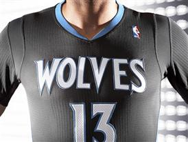 adiads T-Wolves Lights Out Jersey 2