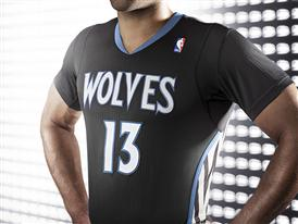 adiads T-Wolves Lights Out Jersey 3