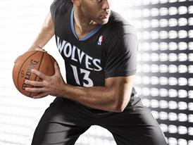 adiads T-Wolves Lights Out Jersey 4
