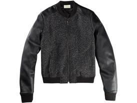BOUCLE WOOL BOMBER