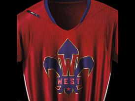 adidas NBA All-Star Jersey WEST Detail 1