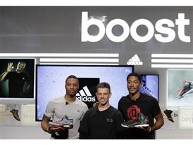 Derrick Rose (R), Damian Lillard (L), Robbie Fuller - adidas Basketball Boost Launch
