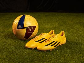 adizero f50 Messi football boot and ball