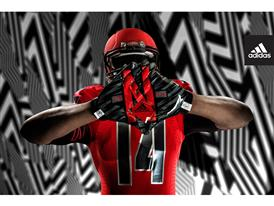 adidas NCAA Nebraska Gloves