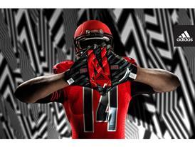 adidas NCAA Nebraska Gloves