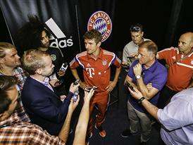 Thomas Müller Meets the Media at adidas America HQ in Portland