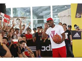 adidas John Wall Take on Summer Tour in Chengdu, China, 2