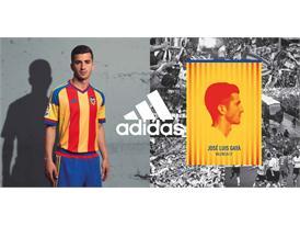 adidas y  el Valencia CF  han presentado la segunda equipación para la temporada 2015/2016 2
