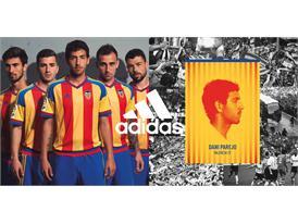 adidas y  el Valencia CF  han presentado la segunda equipación para la temporada 2015/2016 3