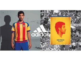 adidas y  el Valencia CF  han presentado la segunda equipación para la temporada 2015/2016 4