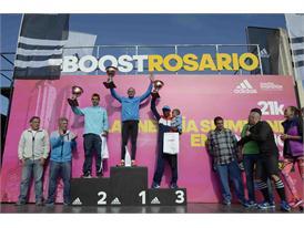 Podio Masculino - Media Marato¦ün adidas Rosario