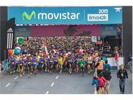 Las calles de Lima se llenaron de enería en la Lima 42K 15
