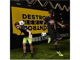 Mesut Ozil and Ander Herrera at the BASE 02