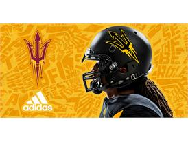 ASU adidas Football Black Helmet