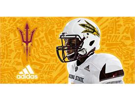ASU adidas Football White Shoulder