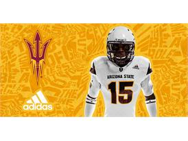 ASU adidas Football White Chest