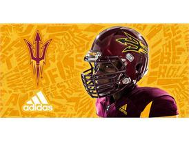 ASU adidas Football Maroon Helmet
