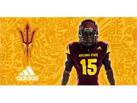 ASU adidas Football Maroon Chest