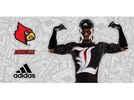 Louisville Black adidas Football 1