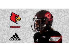 Louisville Black adidas Football 4