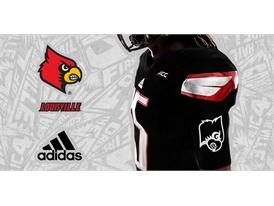 Louisville Black adidas Football 6