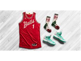 Christmas Day Jersey 2015 Derrick Rose Laydown