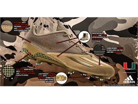 adidasFooball DarkOps Tan adizero TechSheet