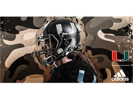Miami adidasFooball Military Appreciation Helmet