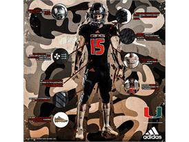 Miami adidasFooball Military Appreciation TechSheet