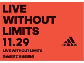 「LIVE WITHOUT LIMITS」 TOP