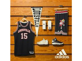 NCAA Black History Month Louisville Black Logo Square