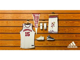 NCAA Black History Month Louisville Cream Logo Horizontal