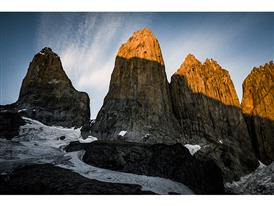 Torres del Paine in morning light-photo credits Franz Walter/adidas Outdoor