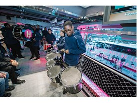 The Cardinal Hayes High School Marching Band appears @ adidas NYC Flagship Opening Dec. 1